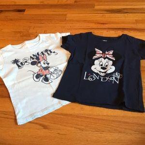 Bundle of 2 Uniqlo Minnie Mouse tee shirts 3-4